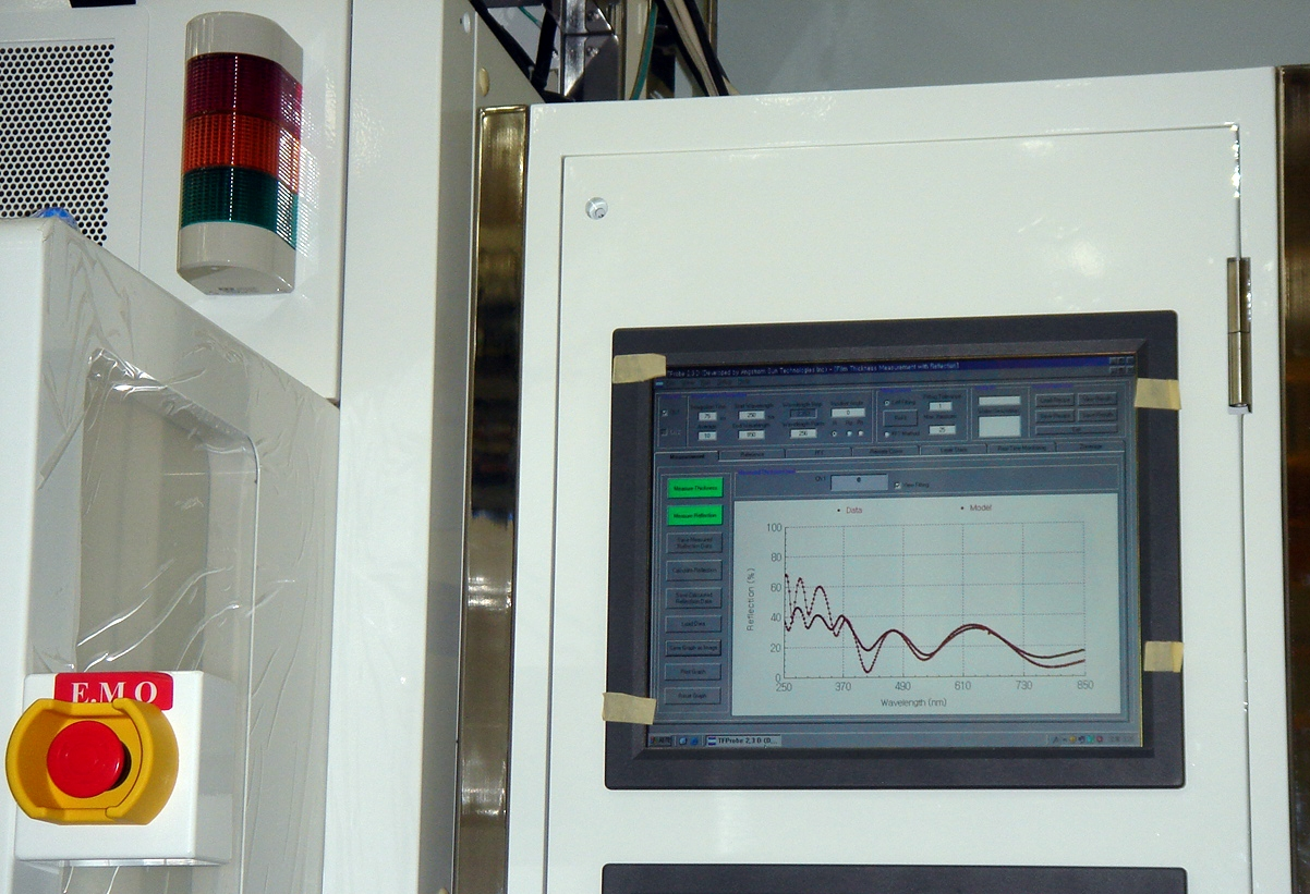 In-line insitu real time monitoring tool for film thickness and color parameters